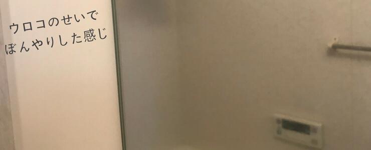 鏡のウロコの汚れ