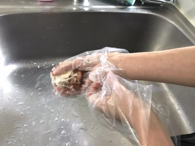 生ゴミの水分をギュッと絞る