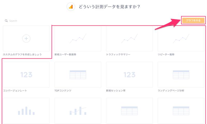 Datadeckでテンプレートからグラフを作る方法